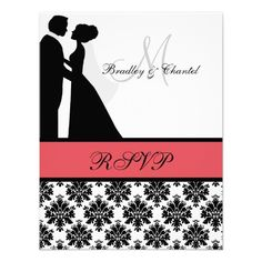 ShoppingBlack and Coral Wedding Couple RSVP Card Personalized AnnouncementYes I can say you are on right site we just collected best shopping store that have