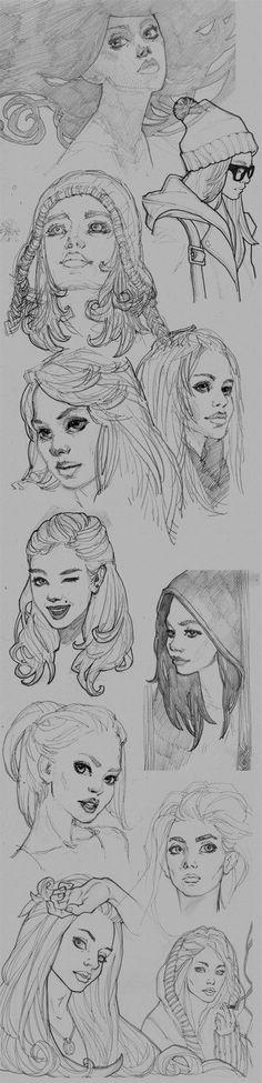 female faces