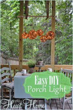 Easy DIY Outdoor Chandelier!