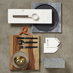 captain wood server in serving pieces | CB2