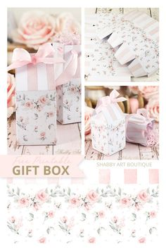 How to Make This Beautiful Shabby Gift Box for Mother's Day Craft Tutorials, Craft Projects, Shabby Boxes, Mini Milk, Shabby Chic Crafts, Watercolor Rose, Craft Box, Simple Gifts, Diy Painting