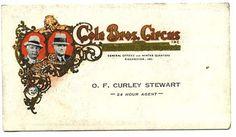 """Cole Bros. Circus """"Logo"""""""