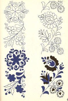 A magyar kultúra tanítása - Teaching Hungarian Culture: kalocsai hímzés Hungarian Embroidery, Hardanger Embroidery, Paper Embroidery, Brazilian Embroidery, Learn Embroidery, Crewel Embroidery, Vintage Embroidery, Machine Embroidery, Embroidery Designs