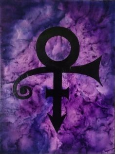 Prince Tribute Crayon Art Silhouette Melted by ColorsOfTheWindArt