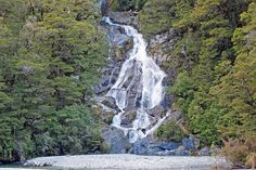 Fantail Falls, Southern Lakes South Island NZ.
