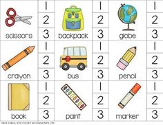 Syllables Through The Year: Syllable Clip Cards for 15 different yearly themes.