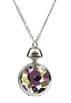 Psychedelic Fob Watch Pendant Necklace, available at www.allgiftsonline.com.au