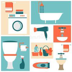 """Résultat de recherche d'images pour """"bathroom Flat art"""""""