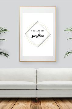 Black And White Wall Art, You Are My Sunshine, Decoration, All Print, Warm, Sunset, Collection, Yellow, Unique Jewelry