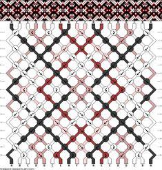 Muster # 83873, Streicher: 18 Zeilen: 16 Farben: 6