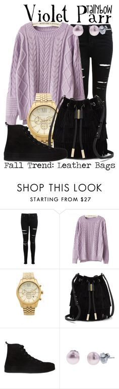 """Violet Parr"" by tallybow ❤ liked on Polyvore featuring Miss Selfridge, Chicnova Fashion, Michael Kors, Vince Camuto, Ann Demeulemeester and Honora"