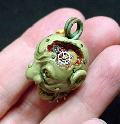 Steampunk Zombie - POTTERY, CERAMICS, POLYMER CLAY- Knitting, sewing, crochet, tutorials, children crafts, papercraft, jewlery, needlework, swaps, cooking and so much more on Craftster.org