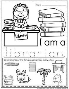 Hojas de trabajo de ayudantes de la comunidad - Bibliotecario
