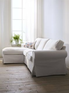 EKTORP cover sofa and chaise longue Blekinge white. : ektorp chaise cover - Sectionals, Sofas & Couches
