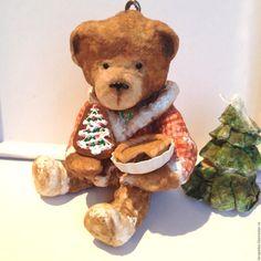 Купить Мишка Мэйсон (Канада) - ватная елочная игрушка, новогодний сувенир, новогоднее украшение