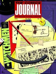 the cover to The Comics Journal by Dave Gibbons Magazine Format, Dave Gibbons, Journal Covers, Comic Artist, X Men, Comic Strips, Nostalgia, Comic Books, Comic