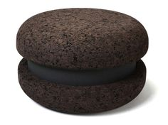 Low cork stool Macaron Collection by Haymann | design Toni Grilo