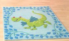 fairy princess / knight room: HABA Fairytale Dragon Rug - Blueberry Forest