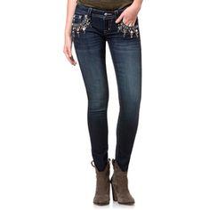 Miss Me Bejeweled Skinny Ankle Jean