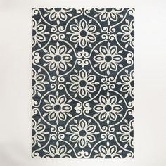 Maybe for green bedroom?Nomad Tile Tufted Wool Area Rug   World Market