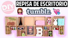 REPISA DE ESCRITORIO TIPO TUMBLR #DIY #Repisa #GirlRoomDecor #Tumblr