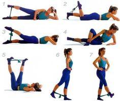 упражнения для попы с резинкой