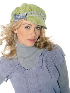 Bobby hat - Get trendy this winter with Bobby, Amanda Walker's jaunty peaked cap
