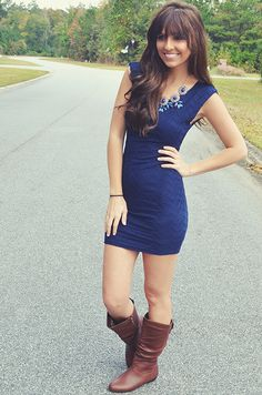 You Belong To Me Dress: Navy Blue