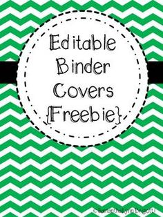 Editable Chevron Binder Covers {Freebie}...LOVE!