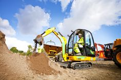 At the end of last week, our commercial photographer - Daniel James, had another shoot with one of our largest customers - A Plant. The hire company required a shoot on an actual residential development site to promote their latest range of 'diggers' or excavators as they are known in the trade, along with Tele-handlers and other site machinery.