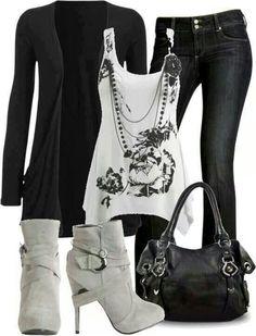 Woman's fashion /black & White