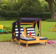 Kids Pallet Lounge Chair With Canopy