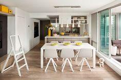[Interior] Apartamento en esquema de color gris con acentos amarillos   Decorar tu casa es facilisimo.com