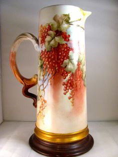 Hand painted with village by the sea motif. Porcelain, Hand Painted, China, Vase, Antiques, Painting, Antiquities, Porcelain Ceramics, Antique