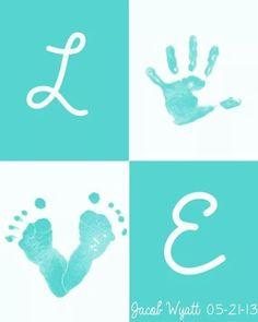 Hand + feet = cute LOVE sign!