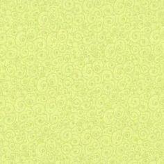 Tissu patchwork volutes vert clair