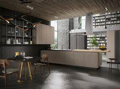 Descarga el catálogo y solicita al fabricante Look | cocina de madera By snaidero, cocina de madera con península diseño Michele Marcon, Colección sistema