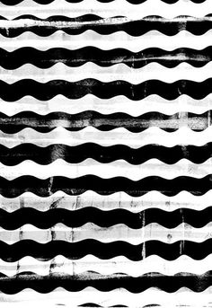 Chunky Wave Pattern - black & white print design by Georgiana Paraschiv Wave Pattern, Surface Pattern, Pattern Art, Surface Design, Pattern Design, Print Design, Pretty Patterns, Color Patterns, Painting Patterns