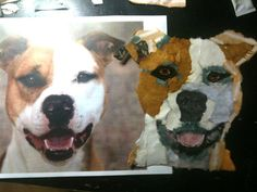 Custom Torn Paper Pet Portrait