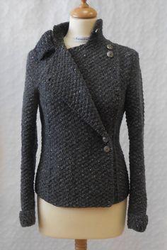 Military Style Jacket Knitting Pattern PDF