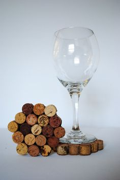 Wine Cork Coaster Set of 5 by cocoroandco on Etsy