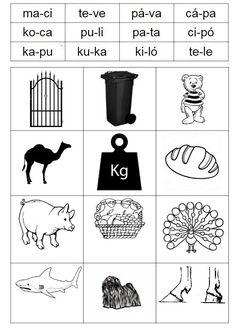 A 2+2 szótagszerkezetű szavak olvasásában segít ez a nyomtatható feladatlap. Bingót, párosítót lehet játszani vele. Bingo, Preschool, Teaching, Dyslexia, Nursery Rhymes, Kindergarten, Kindergartens, Teaching Manners, Learning