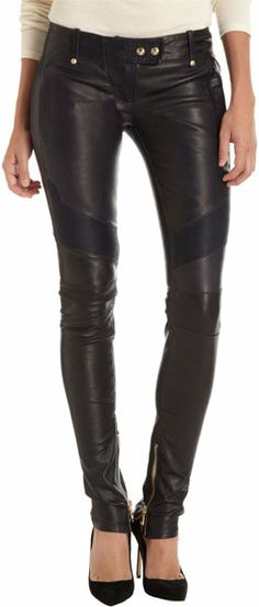 BALMAIN Leather Moto Pants - LOVE THEM, if only they didnt cost like 3 months of rent.