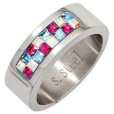 """Dreambase Damen-Ring """"Swarovski"""" Edelstahl 58 (18.5) Dreambase http://www.amazon.de/dp/B00N5BHPAY/?m=A37R2BYHN7XPNV"""