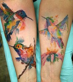 Watercolor hummingbird tattoos - 55 Amazing Hummingbird - could do as a painting as well as Tattoo Designs Finger Tattoos, Leg Tattoos, Tattoos For Guys, Tattoos For Women, Cool Tattoos, Tatoos, Hummingbird Tattoo Meaning, Watercolor Hummingbird, Tattoo Watercolor