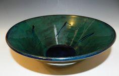 Large aquamarine and royal blue wheel by MarkCampbellCeramics, $45.00