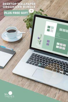 Desktop Organizer Wallpaper Bundle plus Desktop ICONS | Etsy