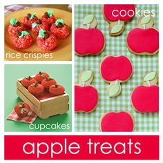 Love the apple rice krispies and the apple cupcakes! One of these days I will have the time to do all of this stuff!