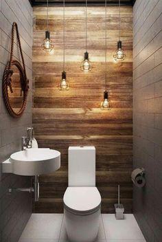 66 epic wood bathroom design ideas with Flare Far - 66 epic wooden bathroom conception ideas with flare far - Small Half Bathrooms, Bathroom Design Small, Amazing Bathrooms, Bath Design, Gray Bathrooms, Tan Bathroom, Small Toilet Design, Relaxing Bathroom, Silver Bathroom