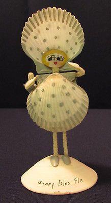 Sunny Isles Florida Seashell Shell Art Doll 6 Inches | eBay